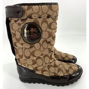 "Coach Size 6.5 Women's ""Jordy"" Boots in Brown"